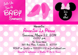 minnie mouse baby shower invitations minnie mouse baby shower invitations with lovely pink theme