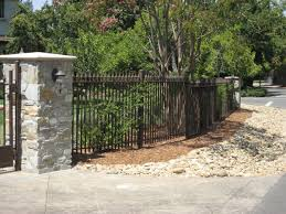 Front Yard Metal Fences - atlanta fence installation wood iron chain link fences