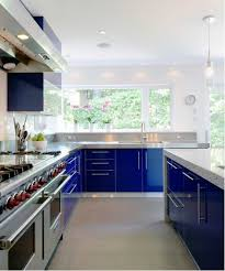 are blue cabinets trendy trend alert sophisticated shades of blue for kitchen