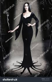 halloween background long young woman halloween witch cigarette on stock photo 110001848