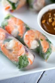 fresh shrimp spring rolls with peanut dipping sauce jessica gavin