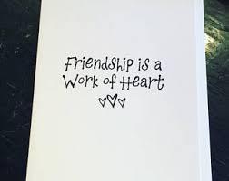 friendship cards friendship card etsy