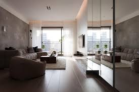 indoor modern interior design for apartment with living room
