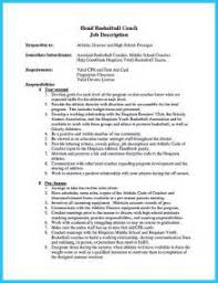 Basketball Coach Resume Sample by Cvs Samples Show Me An Example Of A Resume Resume Examples Word