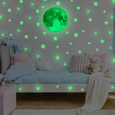amazon com mafox glow in the dark stars for ceiling or wall mafox glow in the dark wall or ceiling stars with moon stickers luminous decal stickers
