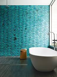 White And Blue Tiles In Bathroom Blue U0026 Green Bathroom Tiles The Style Files