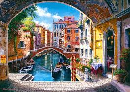 Coolhouse Venice Gondola Painting Wallpaper Desktop Wallpapers Cool