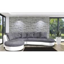 canape gris et blanc jade canapé d angle à gauche tissu et simili gris et blanc