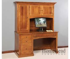 Antique Style Computer Desk Custom Built Hardwood Furniture By Homestead Furniture Made In Usa