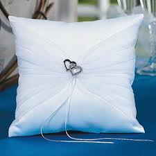wedding pillow rings heart white satin wedding ring bearer pillow to