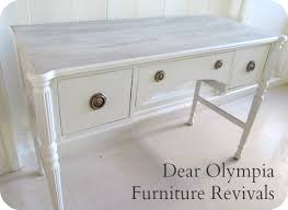 Refinishing Wood Furniture Shabby Chic by Custom Whitewashed Cottage Chic Antique Desk Whitewashed