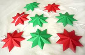 3d paper star christmas garland the little koo blog