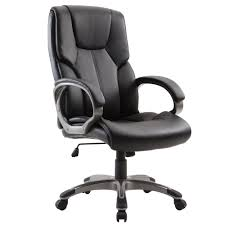 Office Swivel Chair Office Chair High Back Pu Leather Computer Ergonomic Desk Swivel