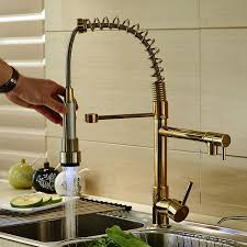 Pull Down Spray Kitchen Faucet Rozin Gold Finish Led Light Pull Down Spray Kitchen Sink Faucet