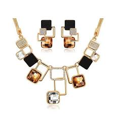 fashion jewelry necklace sets images Fine jewelry sets new fashion gold color filled rhinestone crystal jpg