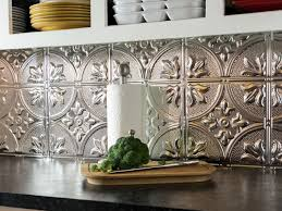 Metal Backsplash Tiles For Kitchens Kitchen Tin Backsplash On Property Brothers Decorative