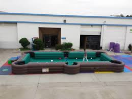 Human Pool Table by Soccer Pool Challenge
