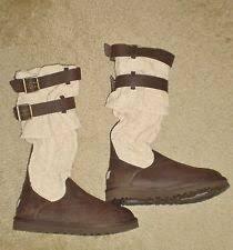 ugg australia danae leather chocolate ugg australia knee high boots s us size 7 ebay