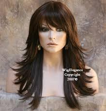 layered flip hairstyles multi layered black auburn mix wig wigs bangs flip fn color