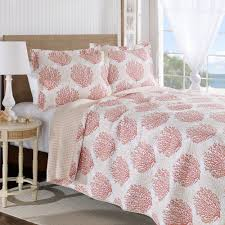 Coral Bedspread Laura Ashley Coral Coast Coral Quilt Set Hayneedle