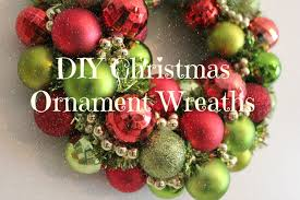 diy christmas ornament wreath tutorial youtube