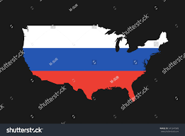 map usa and russia map usa colors russia metaphor russian stock vector 541341589