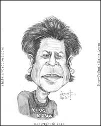 caricature cartoon sketch or portrait of shahrukh khan srk or