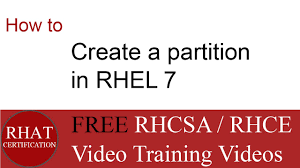how to create a partition in rhel 7 tutorial rhel7 youtube