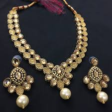 gold necklace set jewellery images Exclusive kundan gold jewelry set hvijs0065 hvinternational JPG