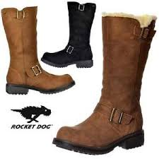 womens boots rocket womens rocket knockout mid calf biker boot leather suede
