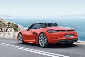 jdm porsche boxster 2017 porsche 718 boxster revealed with new turbo engines