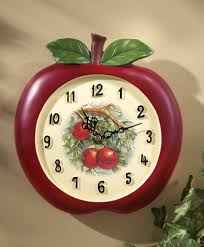 Kitchen Apple Decor by Charming Decorative Kitchen Wall Clocks Also Beautiful Trends