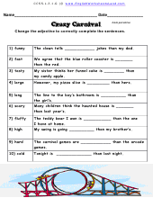 comparative superlative adjectives and adverbs worksheets