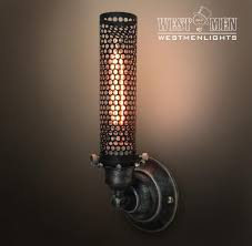Big Wall Sconces Buy A Hand Made Westmenlight Industrial Wrought Iron Wall Sconce