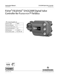 dvc6200f instruction manual nov 2011 by rmc process controls