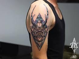 nice geometric tattoo 35 stunning stag and deer tattoo designs