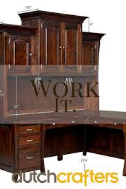 Office Furniture Desk Hutch by 362 Best Amish Executive Office Furniture Images On Pinterest