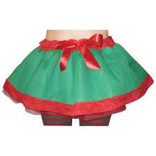 elf tutu christmas skirt costume accessories mega fancy dress