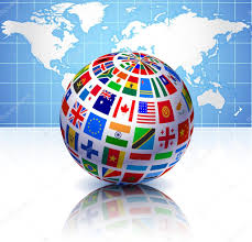 World Map Globe by Flags Globe With World Map U2014 Stock Vector Iconspro 6507586