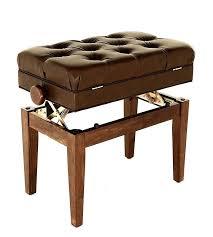 wondrous adjustable piano bench with storage black walnut digital