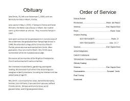 funeral ceremony program burial ceremony program resume template paasprovider