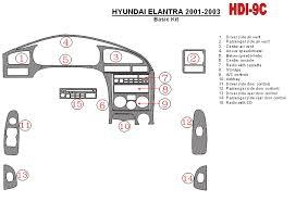 2003 hyundai elantra kit hyundai elantra 2001 2003 premium dash trim kit hdi 9c
