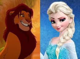 frozen lion king movie