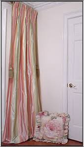 Pink Striped Curtains Sumptuoussilk Green Pink And Yellow Striped Silk Drapery