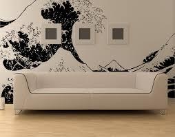 vinyl wall decal sticker japanese great wave hokusai 363