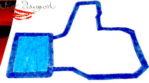 how to draw thumbs up facebook like logo easy and color on paper
