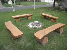 Make Your Own Picnic Table Bench by 25 Best Log Benches Ideas On Pinterest Rustic Cleavers Log
