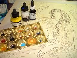 tutorial painting with acrylic inks jenny dolfen u0027s blog