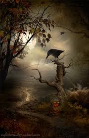 halloween raven background samhain date