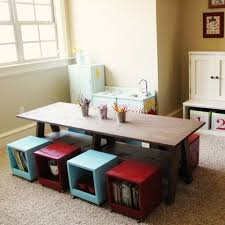 playroom table with storage i built a kids table for my playroom storage stool stools and